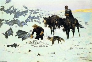 Frederic Remington - The Frozen Sheepherder (también conocido como La Última Watch)