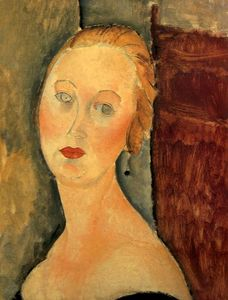 Amedeo Modigliani - Germaine Survage con los pendientes