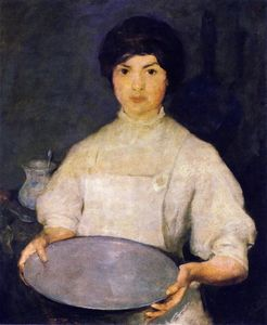 Charles Webster Hawthorne - Chica con Pan