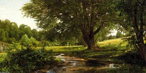 William Trost Richards - Glade en Oldmixon, el condado de Chester, Pennsylvania