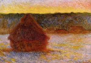 Claude Monet - Grainstack en Sunset DE INVIERNO