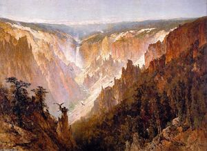 Thomas Hill - el Gran Cañón de `yellowstone`