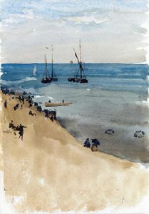 James Abbott Mcneill Whistler - Verde y Plata - el brillo Mar , Dieppe