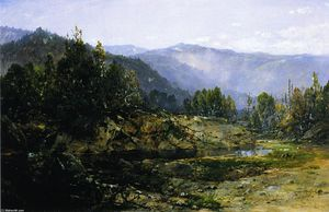 William Louis Sonntag - Una gris mañana - Ossipee, New Hampshire