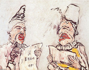 James Ensor - Los cantantes Grotesque