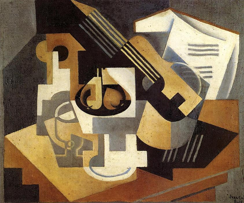 guitarra y fruta plato 1919 de juan gris 1887 1927 spain. Black Bedroom Furniture Sets. Home Design Ideas