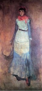 James Abbott Mcneill Whistler - Armonía en coral y azul: Milly Finch