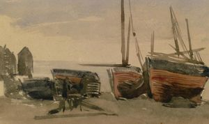 James Abbott Mcneill Whistler - Hastings : pesca barcos
