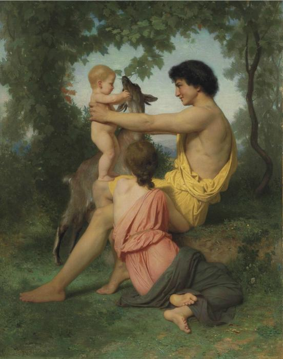 Idylle: famille antigüedades de William Adolphe Bouguereau (1825-1905, France) | WahooArt.com