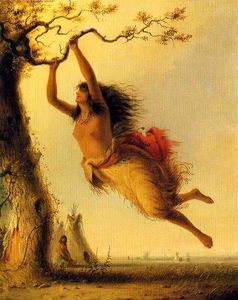 Alfred Jacob Miller - Swinging Indian Girl