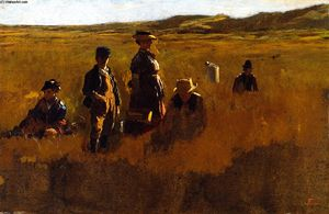 Jonathan Eastman Johnson - en el campos