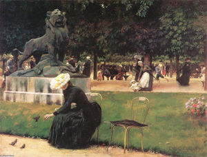 Charles Courtney Curran - En el Jardín de Luxemburgo