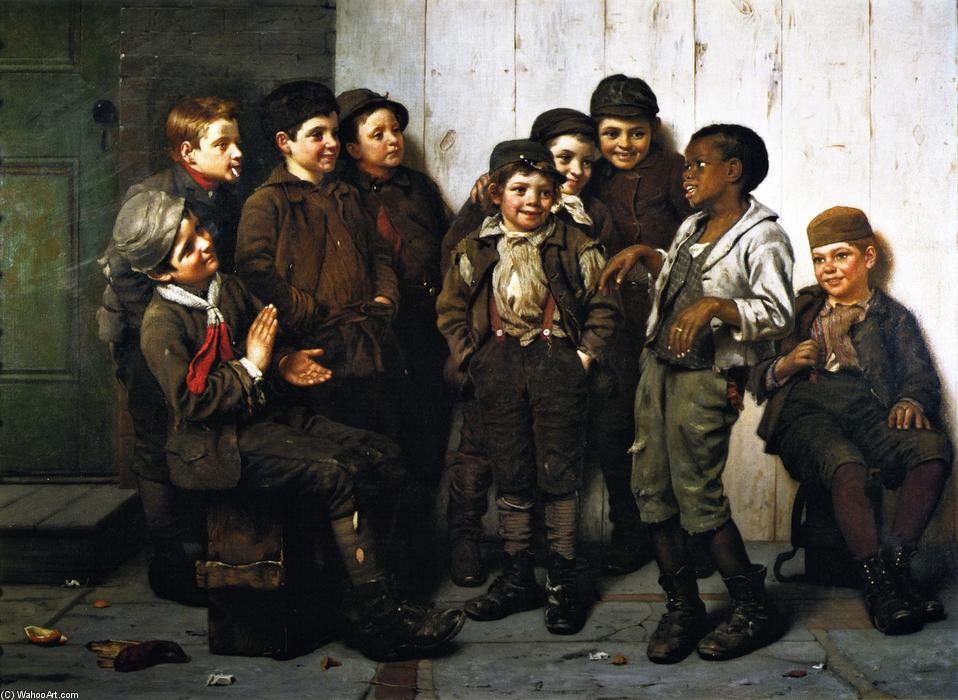 A Jolly Lote, 1885 de John George Brown (1831-1913, United Kingdom) | WahooArt.com
