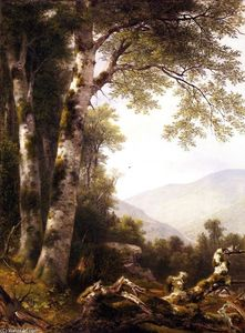 Asher Brown Durand - Paisaje con abedules