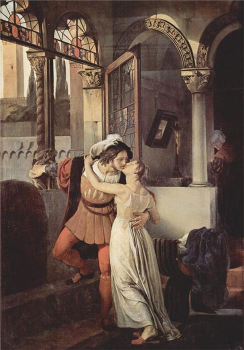 Manierismo. - Página 5 Francesco-Paolo-Hayez-Last-Kiss-of-Romeo-and-Juliet