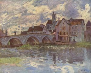 Alfred Sisley - Pont delaware Mas t -sur-loing