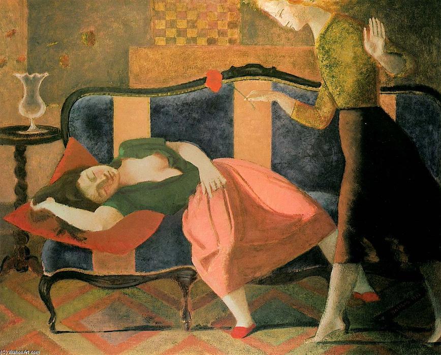 El sueño, óleo sobre lienzo de Balthus (Balthasar Klossowski) (1908-2001, France)