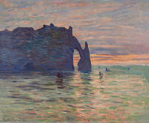 Claude Monet - Etretat , Sunset