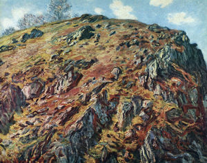 Claude Monet - estudio de rocas