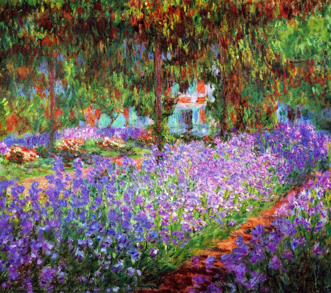 iris in de Monet jardín, 1900 de Claude Monet (1840-1926, France)