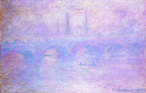 Claude Monet - El puente de Waterloo neblina