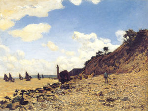 Claude Monet - La playa en Honfleux