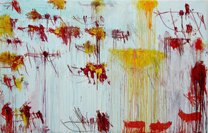 Cy Twombly - Lepanto, el panel 10
