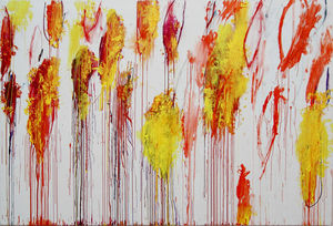 Cy Twombly - Lepanto, el panel 12