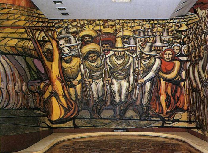 El revolution pintura mural de david alfaro siqueiros for El mural de siqueiros