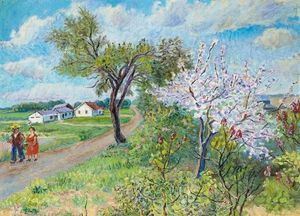 David Davidovich Burliuk - primavera on largo isla