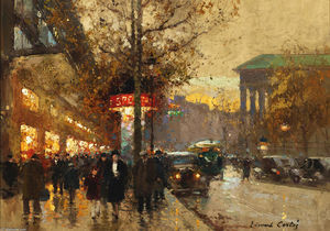 Edouard Cortes - La Madeleine in crepuscule look from Bulevar
