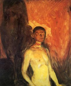 Edvard Munch - auto retrato in infierno
