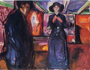 Edvard Munch - Hombre y mujer II