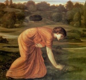 Edward Coley Burne-Jones - El Marigold marzo