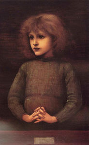 Edward Coley Burne-Jones - retrato de un jóven niño