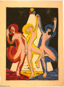 Ernst Ludwig Kirchner - colorido baile