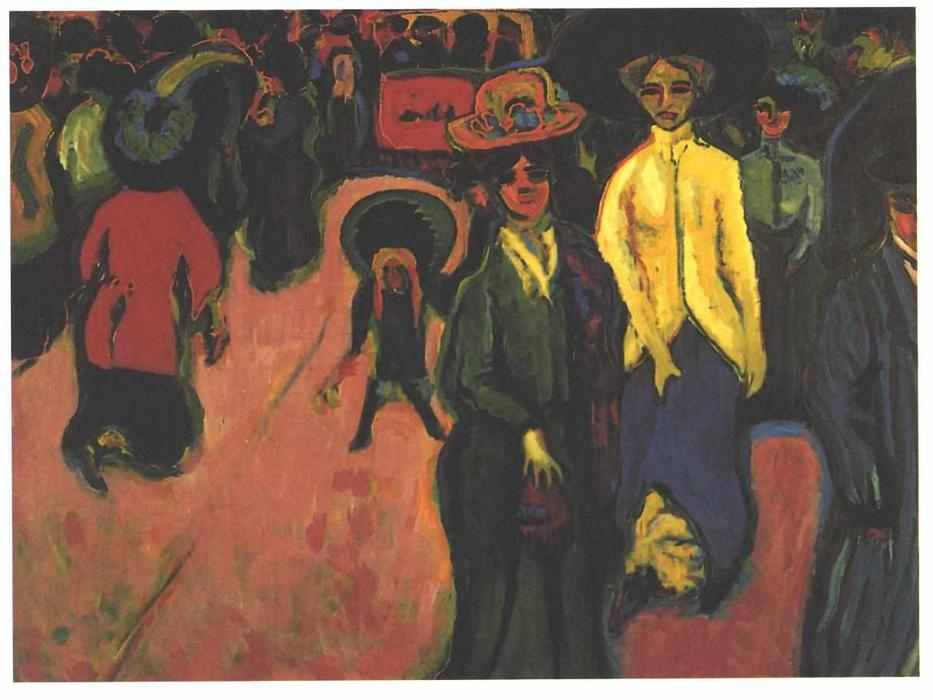 calle, 1908 de Ernst Ludwig Kirchner (1880-1938, Germany) | WahooArt.com
