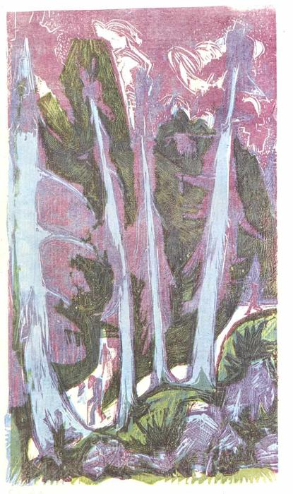 Firs de Ernst Ludwig Kirchner (1880-1938, Germany) | WahooArt.com