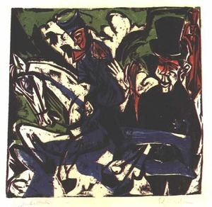 Ernst Ludwig Kirchner - Schlemihls Entcounter con Small Grey Man