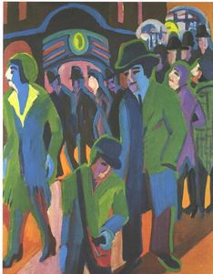 Ernst Ludwig Kirchner - Calle con Pasajeros