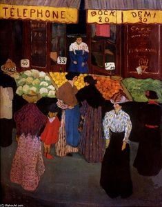 Felix Vallotton - en el mercado