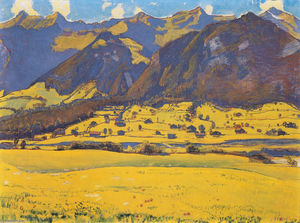 Ferdinand hodler view of the horn of fromberg from reichenbach s jpg