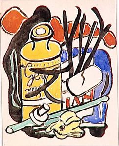 Fernand Leger - composición in amarillo botella