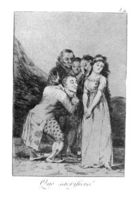 Francisco De Goya - ¡Qué sacrificio!