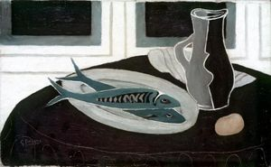 Georges Braque - Botella y Pesca