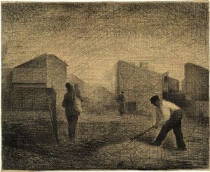 Georges Pierre Seurat - Interruptores de piedra, Le Raincy-