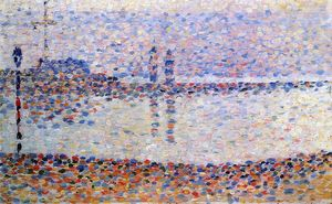 Georges Pierre Seurat - Estudiar para -The Canal a Gravelines , Evening-