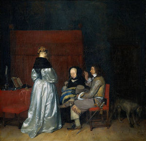 Gerard Ter Borch - Conversación galante (La Advertencia paternal)