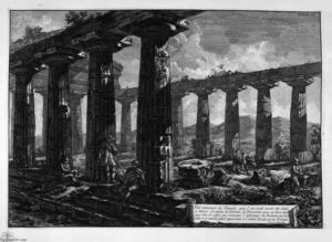 Giovanni Battista Piranesi - en el interior el templo