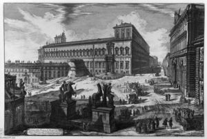 Giovanni Battista Piranesi - Vista de la Plaza de Monte Cavallo